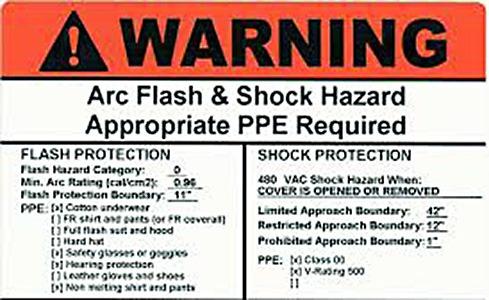 Arc Flash Label 2