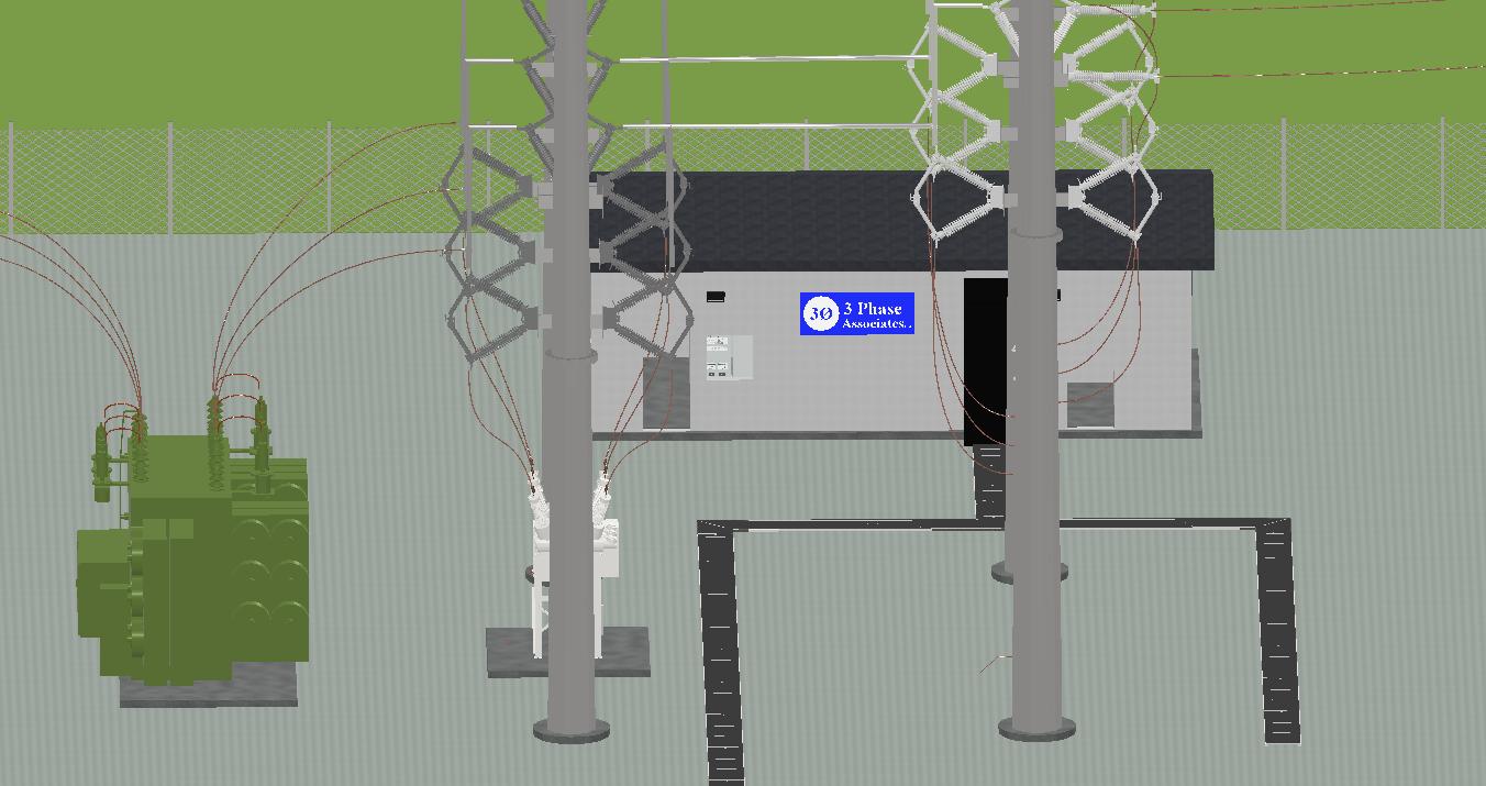 Substation 3D CAD Design